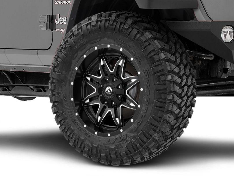 Fuel Wheels Lethal Black Milled Wheel - 20x10 (18-20 Jeep Wrangler JL)