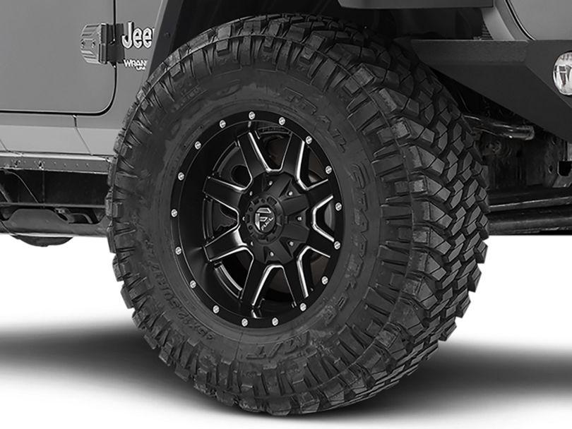 Fuel Wheels Maverick Black Milled Wheel - 20x9 (18-20 Jeep Wrangler JL)
