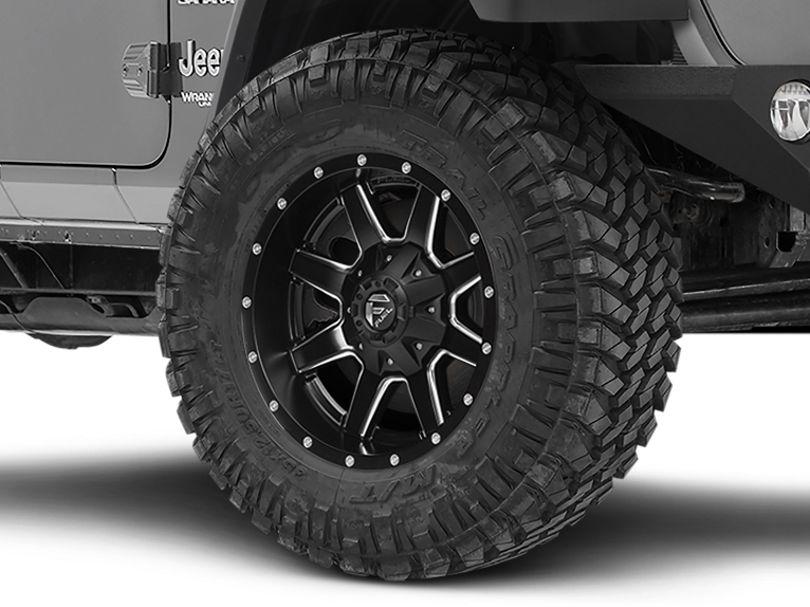 Fuel Wheels Maverick Matte Black Milled Wheel; 20x10 (18-20 Jeep Wrangler JL)
