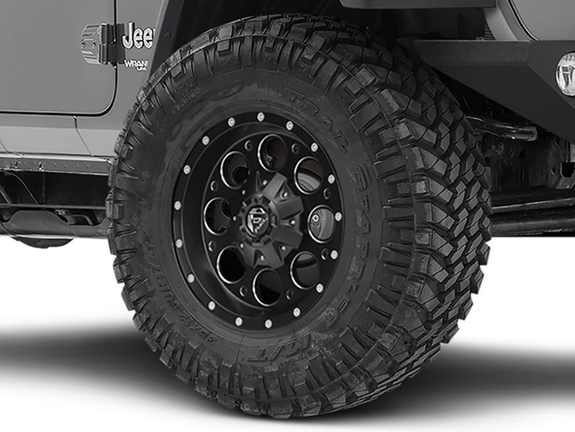 Fuel Wheels Revolver Black Milled Wheel - 17x9 (18-20 Jeep Wrangler JL)