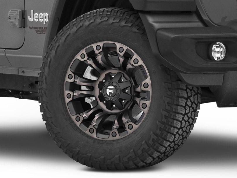 Fuel Wheels Vapor Matte Black Machined Wheel - 18x9 (18-20 Jeep Wrangler JL)