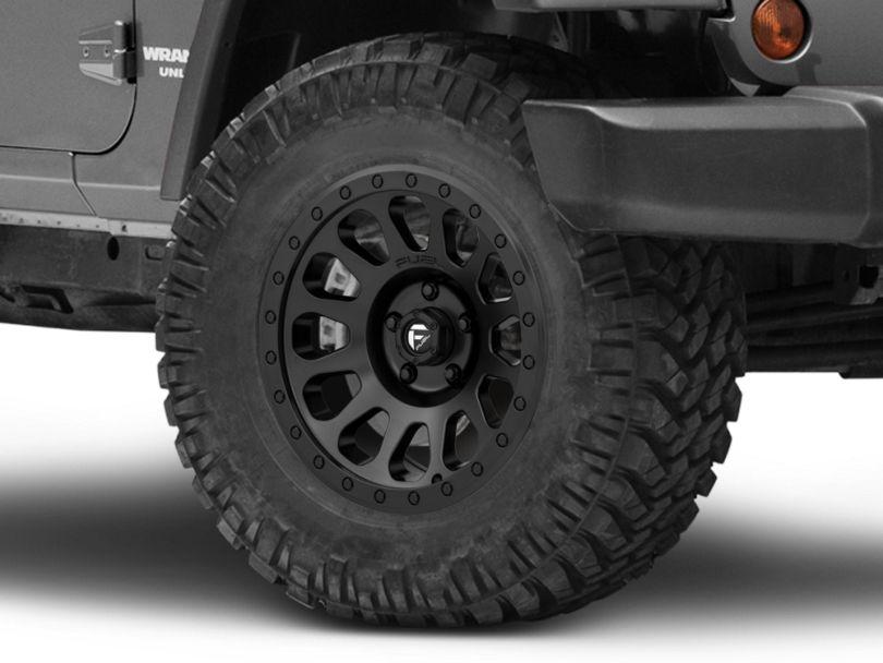 Fuel Wheels Vector Matte Black Wheel; 17x9 (07-18 Jeep Wrangler JK)