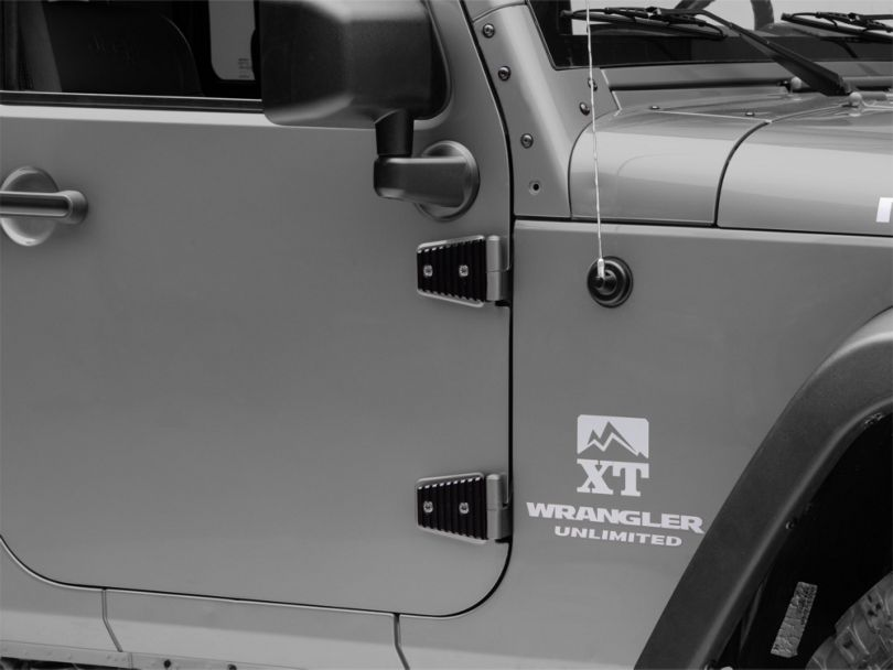 Drake Off Road Door Hinge Covers (07-18 Jeep Wrangler JK)