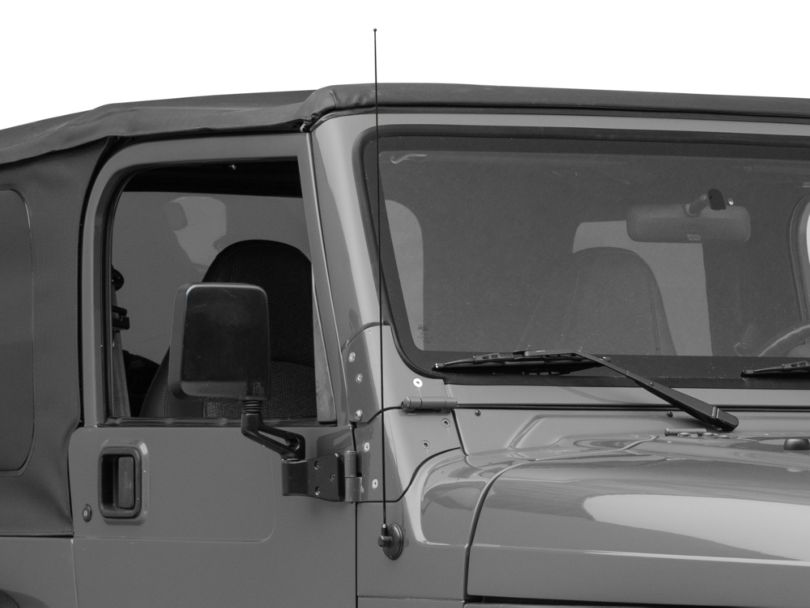 DV8 Offroad Replacement Antenna; Black (97-06 Jeep Wrangler TJ)