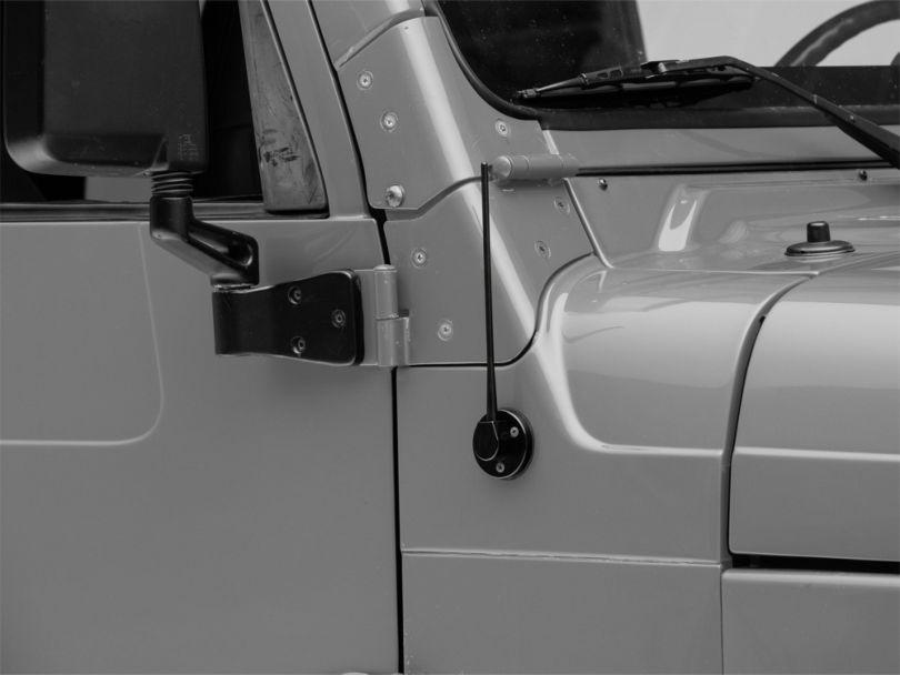 DV8 Offroad Billet Antenna; Black (97-06 Jeep Wrangler TJ)