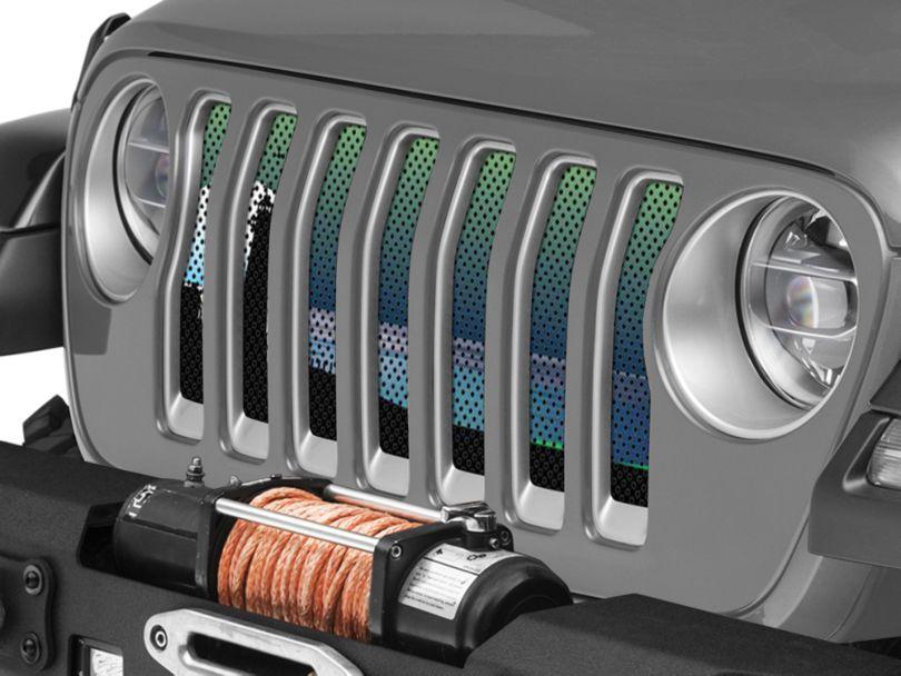 Under the Sun Grille Insert - Endless Summer Blue Green Light House (18-20 Jeep Wrangler JL)