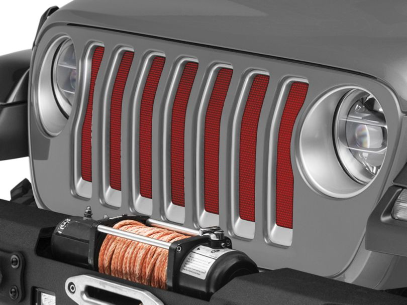 Under the Sun Grille Insert - Flame Red (18-20 Jeep Wrangler JL)