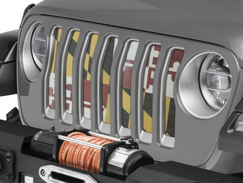 Under the Sun Grille Insert - Maryland (18-20 Jeep Wrangler JL)