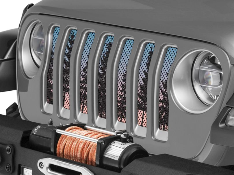 Under the Sun Grille Insert - Pine Trees Blue Sky (18-20 Jeep Wrangler JL)