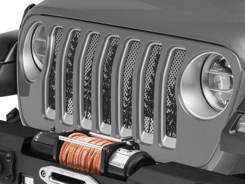 Under the Sun Grille Insert - Pine Trees Grey Sky (18-20 Jeep Wrangler JL)