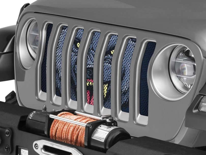 Under the Sun Grille Insert; Wolf (18-20 Jeep Wrangler JL)