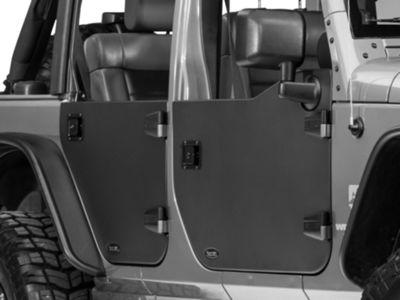 Rugged Ridge Front Half Door - Pair (07-18 Jeep Wrangler JK)