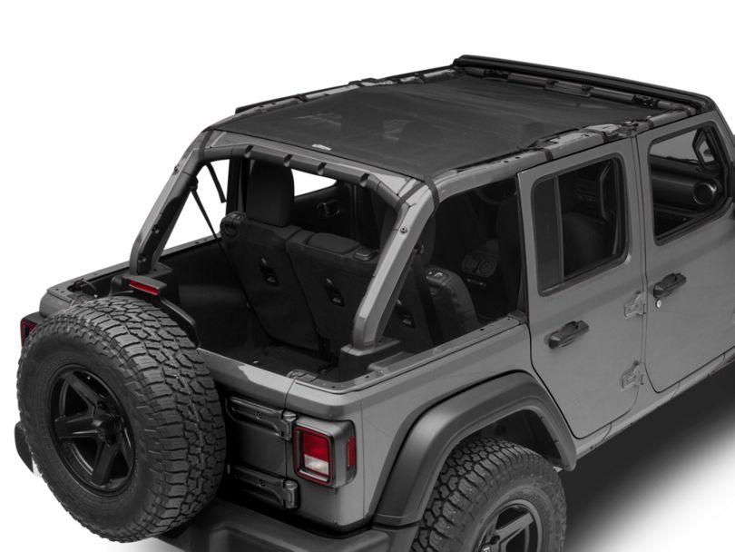 Dirty Dog 4x4 Safari Sun Screen - Black (18-20 Jeep Wrangler JL 4 Door)