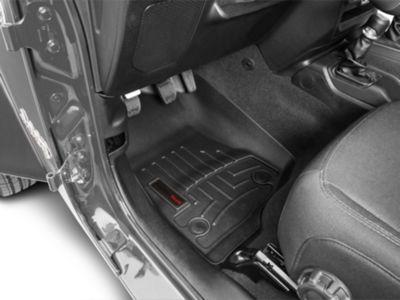Weathertech DigitalFit Front Floor Mats - Black (2018 Jeep Wrangler JL 4 Door)