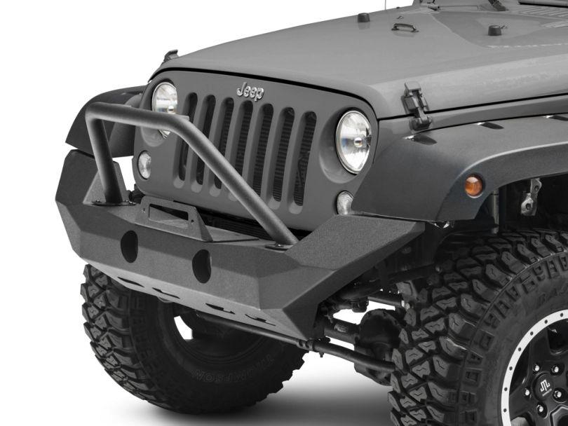 RedRock 4x4 Defender Full Width Front Bumper w/ Winch Mount (18-20 Jeep Wrangler JL)