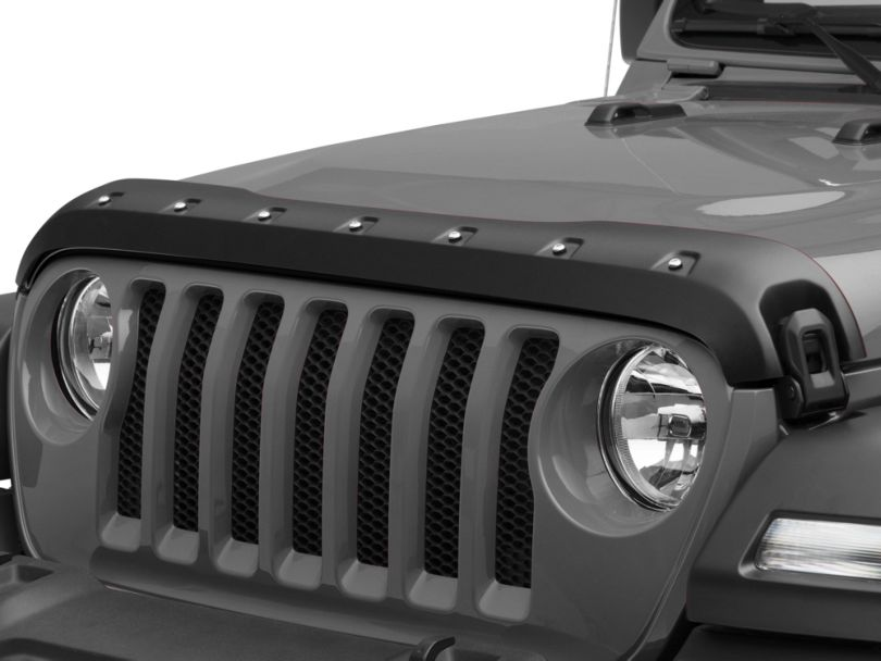 Premium Bolt-On Look Hood Deflector - Textured (18-20 Jeep Wrangler JL)