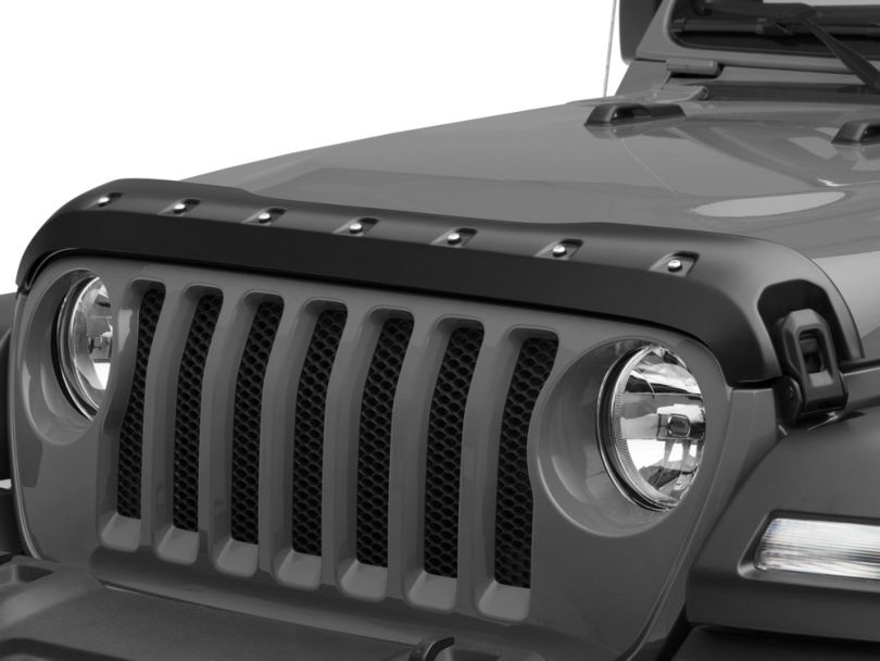 Premium Bolt-On Look Hood Deflector - Smooth (18-20 Jeep Wrangler JL)