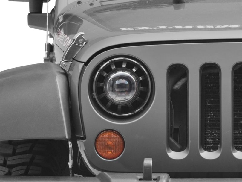 Deegan 38 Demon Eye LED Headlights (07-18 Jeep Wrangler JK)