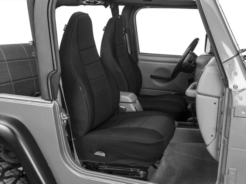 Rugged Ridge Neoprene Front Seat Covers - Black (97-02 Jeep Wrangler TJ)