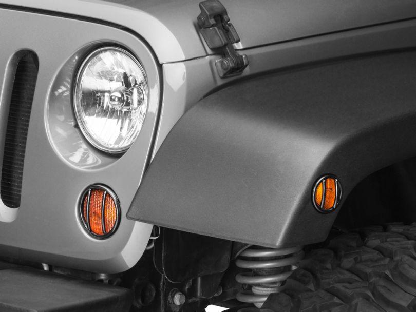 Rugged Ridge Front Side Marker and Parking Light Euro Guard Kit (07-18 Jeep Wrangler JK)