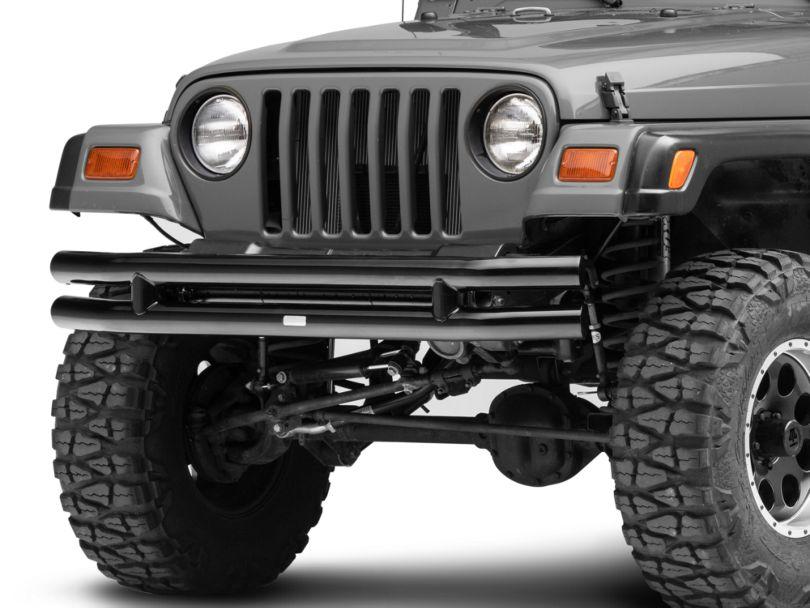 Rugged Ridge 3-Inch Double Tube Front Bumper; Black (87-06 Jeep Wrangler YJ & TJ)