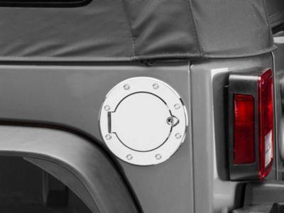 Add Rugged Ridge Aluminum Non-Locking Fuel Door Cover - Chrome (07-17 Wrangler JK)
