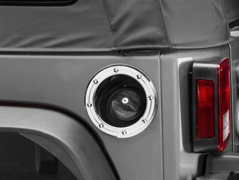Rugged Ridge Fuel Filler Accent Trim - Chrome (07-18 Jeep Wrangler JK)