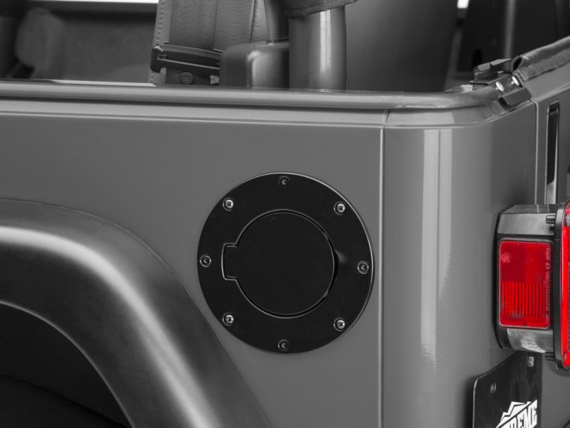 Rugged Ridge Non-Locking Fuel Door - Black (97-06 Jeep Wrangler TJ)