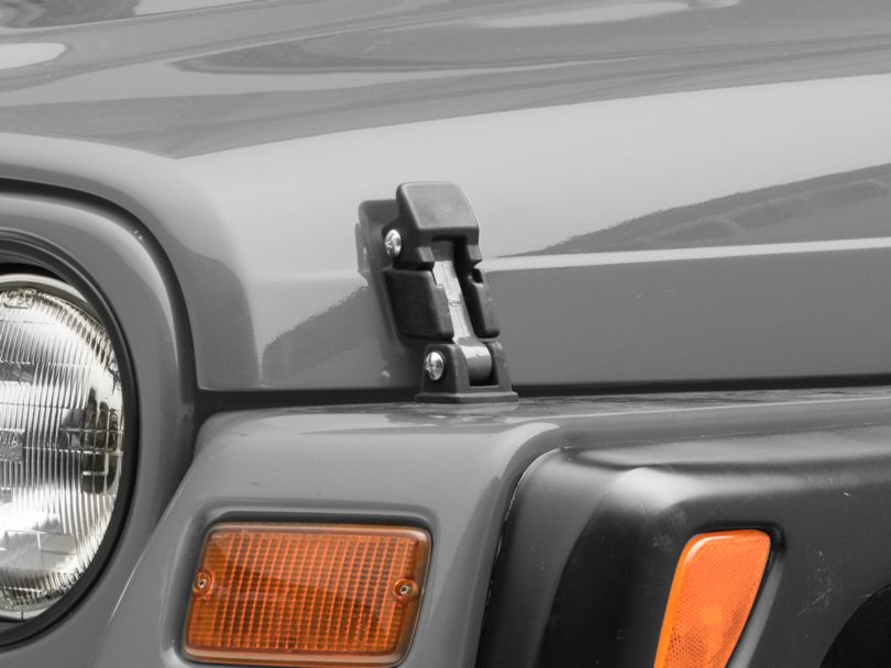 Steinjager Hood Latch Kit - Poly Red (97-06 Jeep Wrangler TJ)