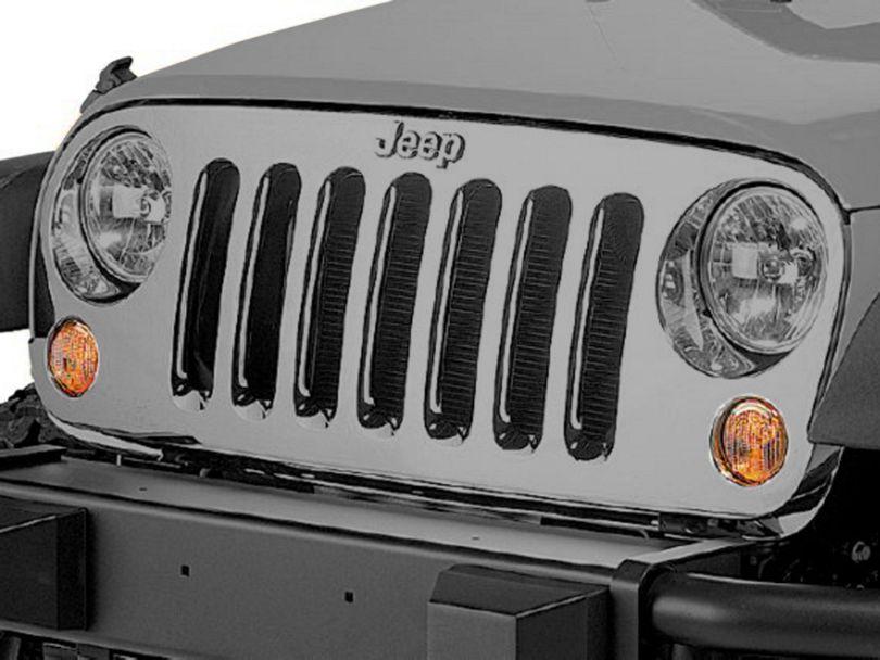 Mopar Genuine Chrome Grille Overlay (07-18 Jeep Wrangler JK)
