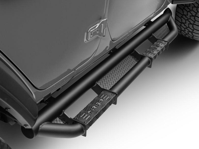 RBP RX-3 Cab Length Side Step Bars - Black (18-20 Jeep Wrangler JL 4 Door)