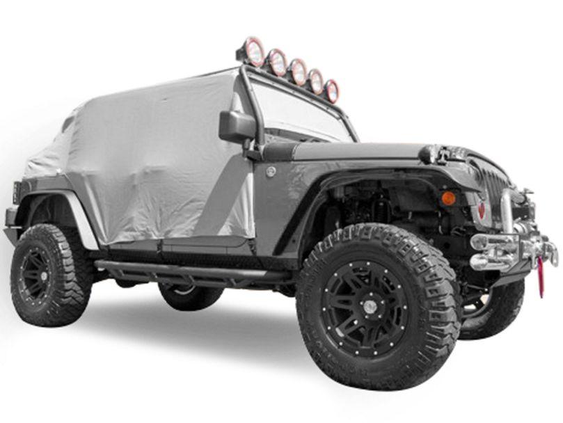 Rugged Ridge Gray Vinyl Water Resistant Cab Cover (07-18 Jeep Wrangler JK 4 Door)