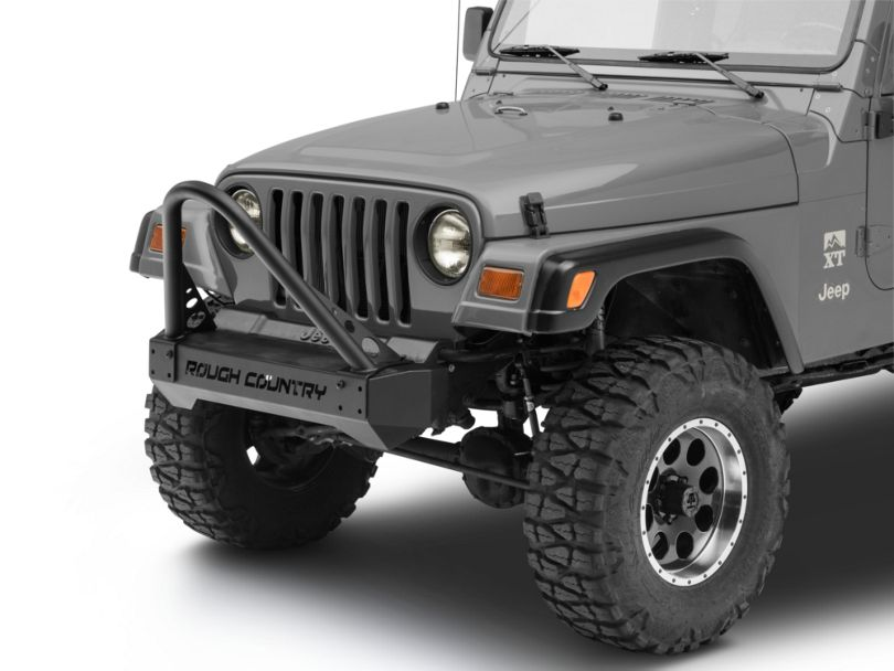 Rough Country Stubby Front Bumper Stinger Bar (87-06 Jeep Wrangler YJ & TJ)