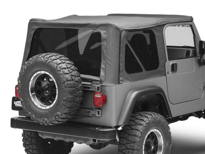 Rough Country Replacement Soft Top - Black Denim (97-06 Jeep Wrangler TJ w/ Full Steel Doors, Excluding Unlimited)
