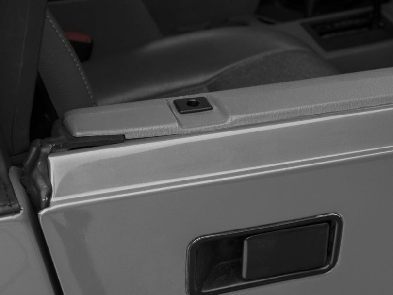 Rugged Ridge Half Door Insert - Black (87-06 Jeep Wrangler YJ & TJ)