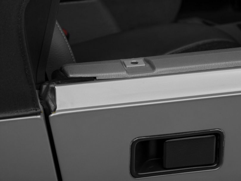 Rugged Ridge Half Door Insert - Gray (87-06 Jeep Wrangler YJ & TJ)