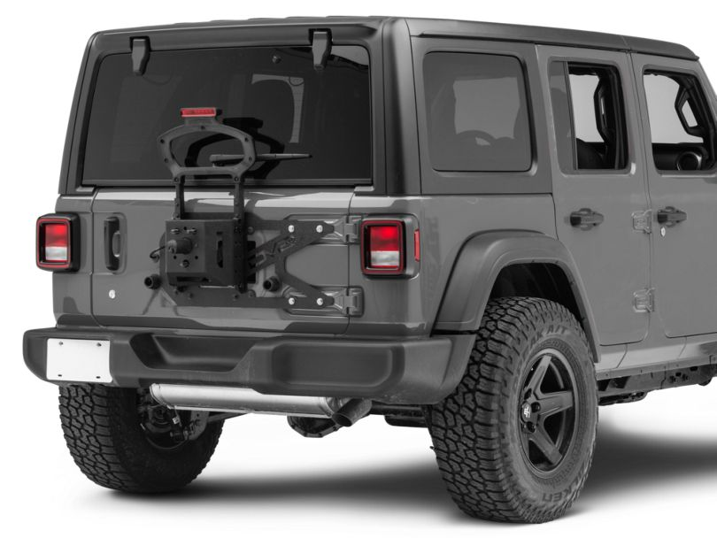 DV8 Off-Road Tailgate-Mounted Tire Carrier (18-20 Jeep Wrangler JL)