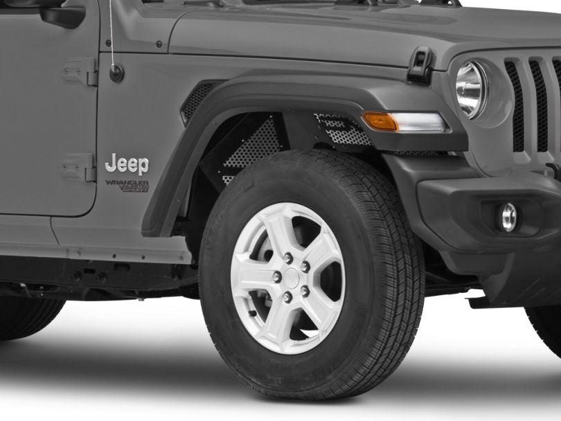DV8 Off-Road Front Aluminum Inner Fenders - Black (18-20 Jeep Wrangler JL)