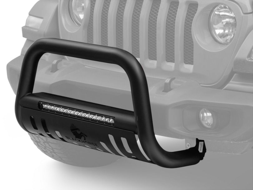 Beacon LED Bull Bar; Black (18-20 Jeep Wrangler JL)