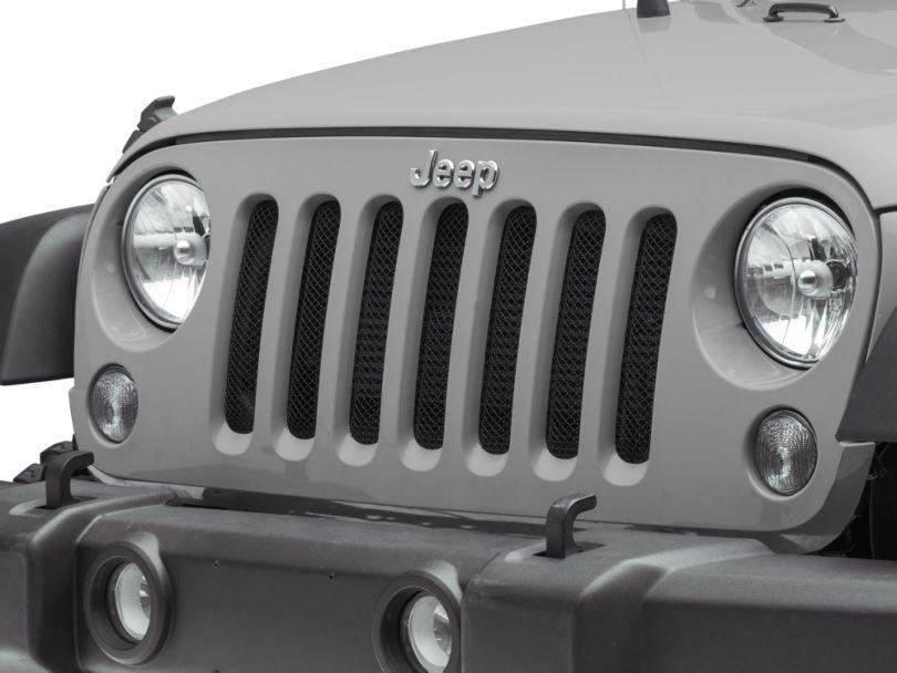 RedRock 4x4 Mesh Grille Inserts - Black (07-18 Jeep Wrangler JK)