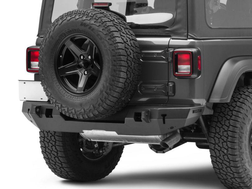 Westin WJ2 Rear Bumper - Textured Black (18-19 Jeep Wrangler JL)