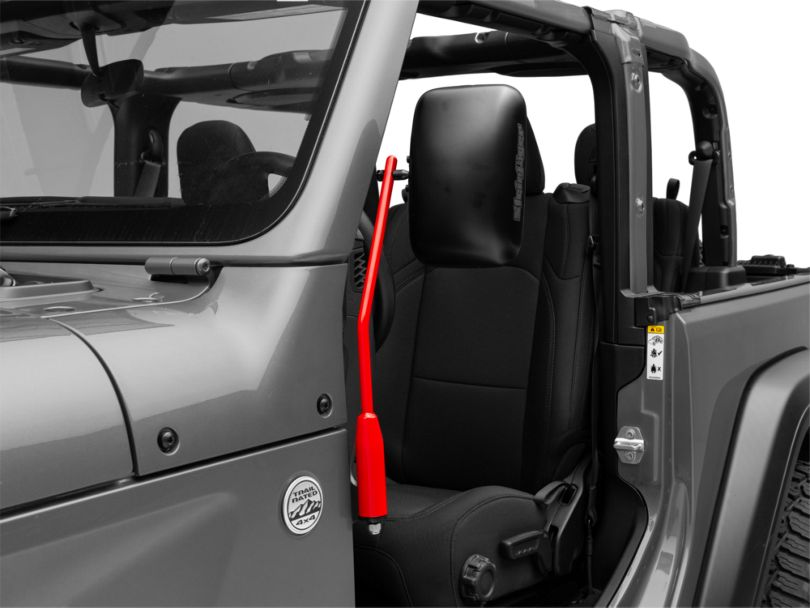 Steinjager Door Hinge Mounted Mirrors - Red Baron (18-20 Jeep Wrangler JL)