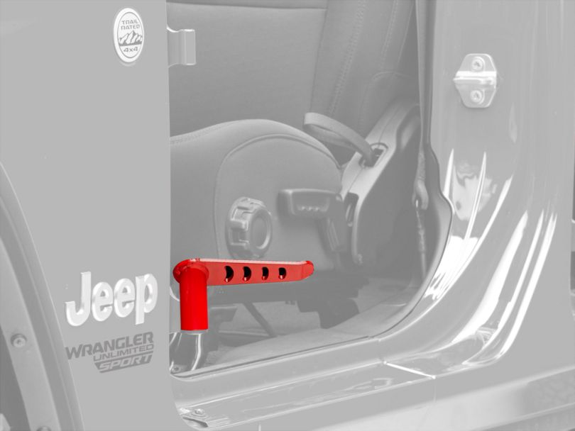 Steinjager Stationary Foot Pegs - Red Baron (18-20 Jeep Wrangler JL)