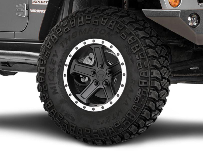 Rovos Tenere Matte Black with Machined Lip Wheel; 17x9 (07-18 Jeep Wrangler JK)