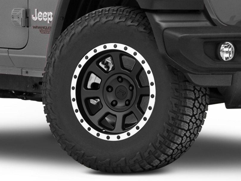 Rovos Kalahari Matte Black with Machined Lip Wheel; 17x9 (18-20 Jeep Wrangler JL)