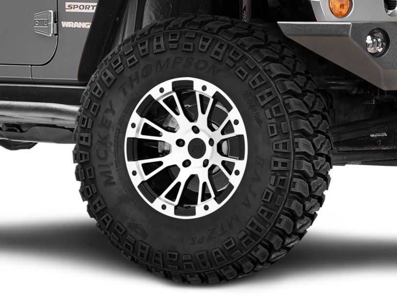Rovos Karoo Clodd Black Machined Wheel; 17x9 (07-18 Jeep Wrangler JK)