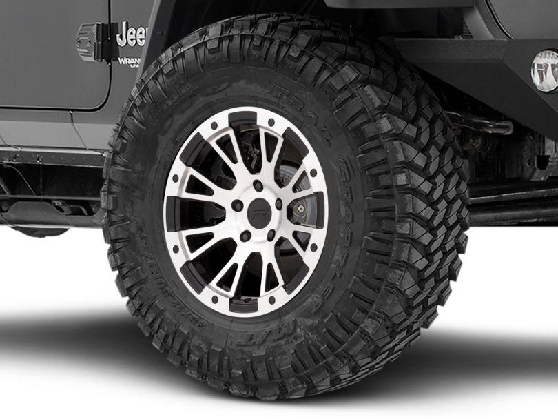 Rovos Karoo Clodd Black Machined Wheel - 17x9 (18-20 Jeep Wrangler JL)
