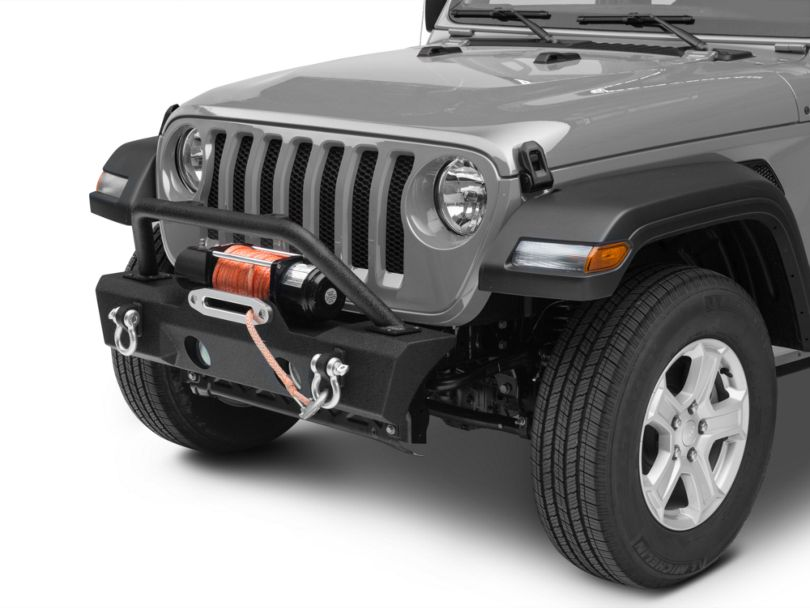 RedRock 4x4 Attack Stubby Front Bumper w/ Winch Mount (18-20 Jeep Wrangler JL)