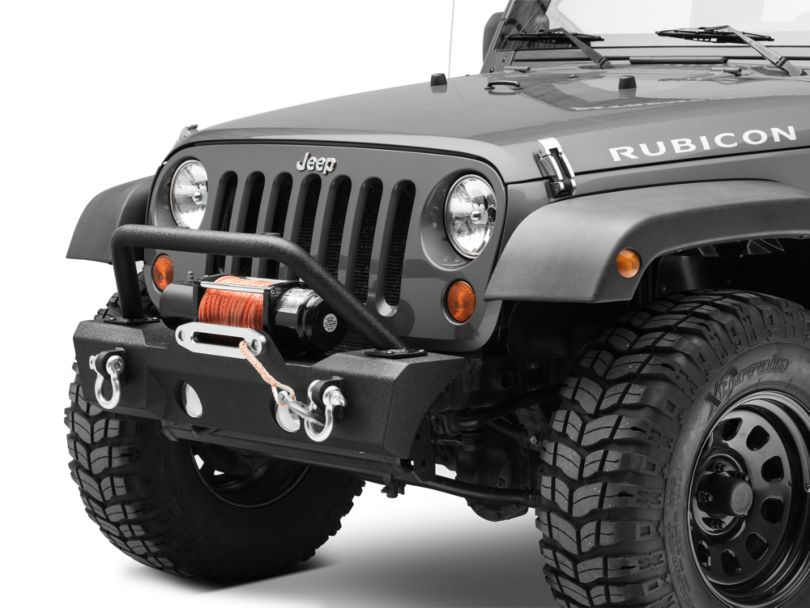 RedRock 4x4 Attack Stubby Front Bumper w/ Winch Mount (07-18 Jeep Wrangler JK)