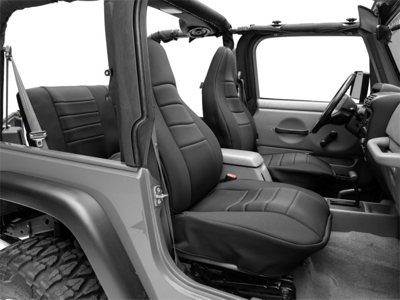Rugged Ridge Front and Rear Seat Covers; Black (97-06 Jeep Wrangler TJ)